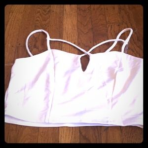 Crop top with key hold opening